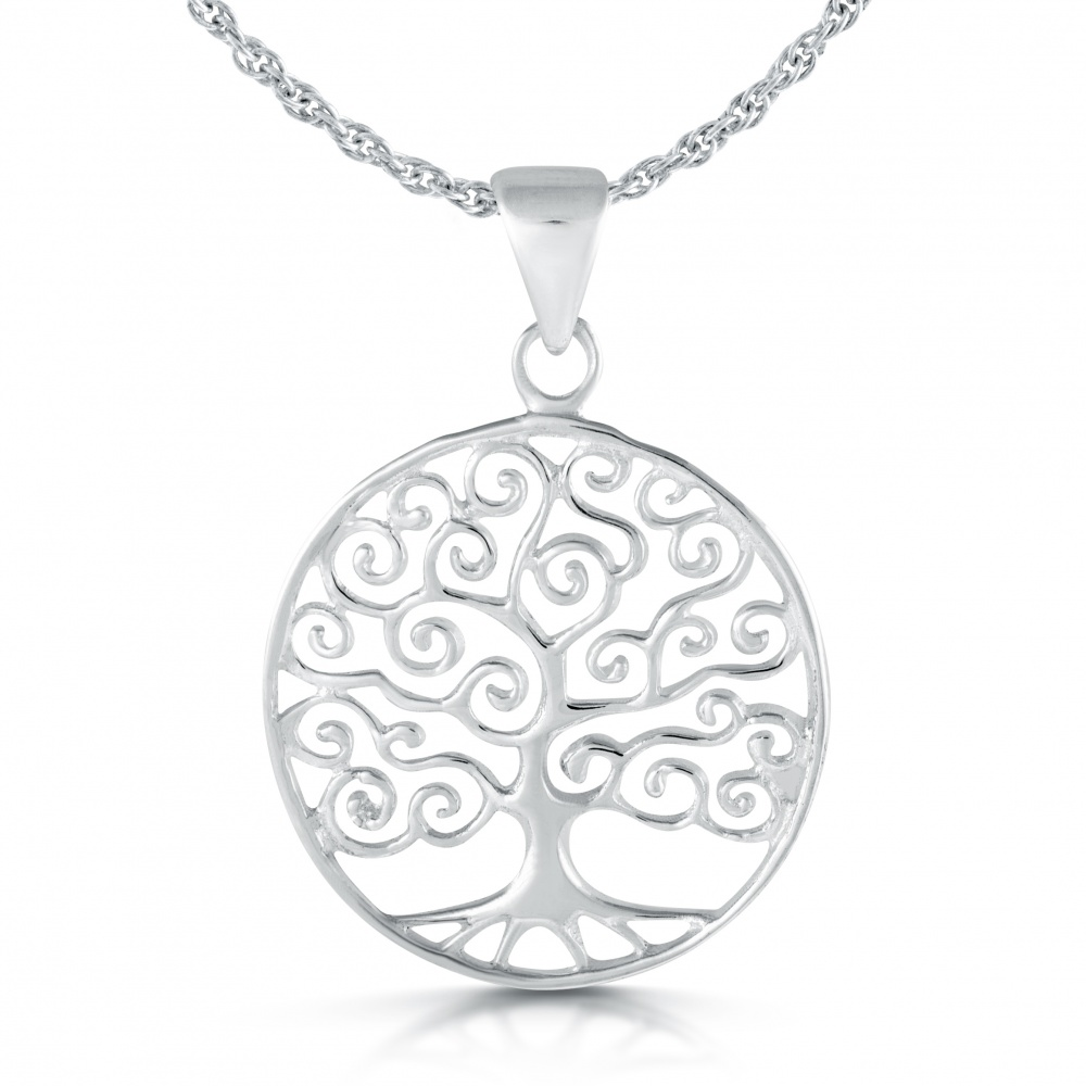 Tree of life necklace celtic style 925 sterling silver for What is the meaning of the tree of life jewelry