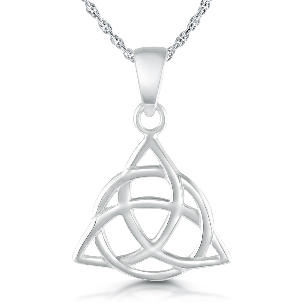 Triquetra (Trinity Knot) Sterling Silver Necklace