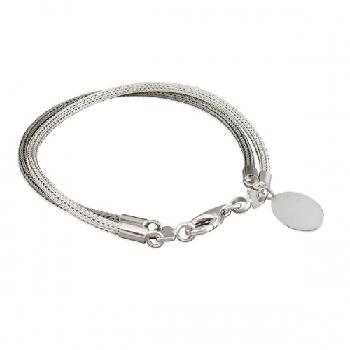 Ladies Two-Tone Double Mesh Bracelet with Tag (can be personalised)