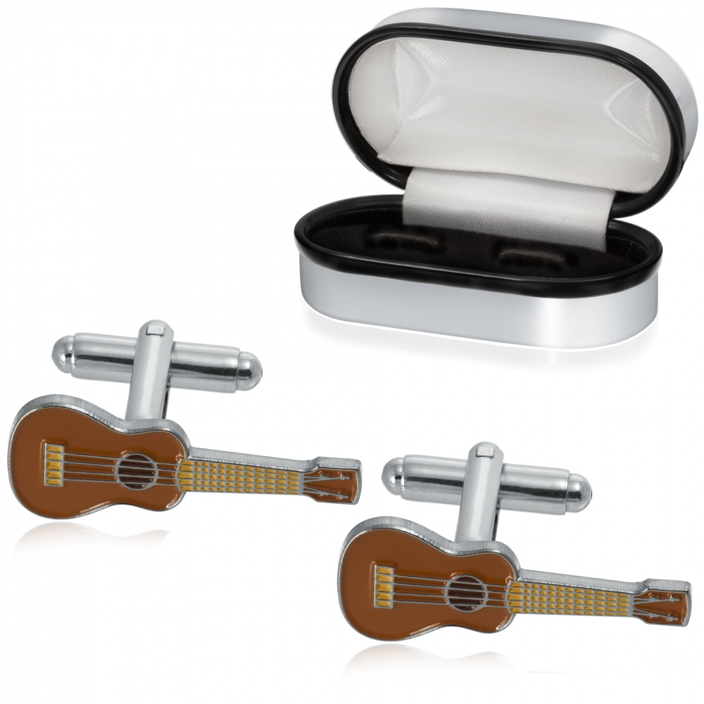 Ukulele Cufflinks, Colour Personalised