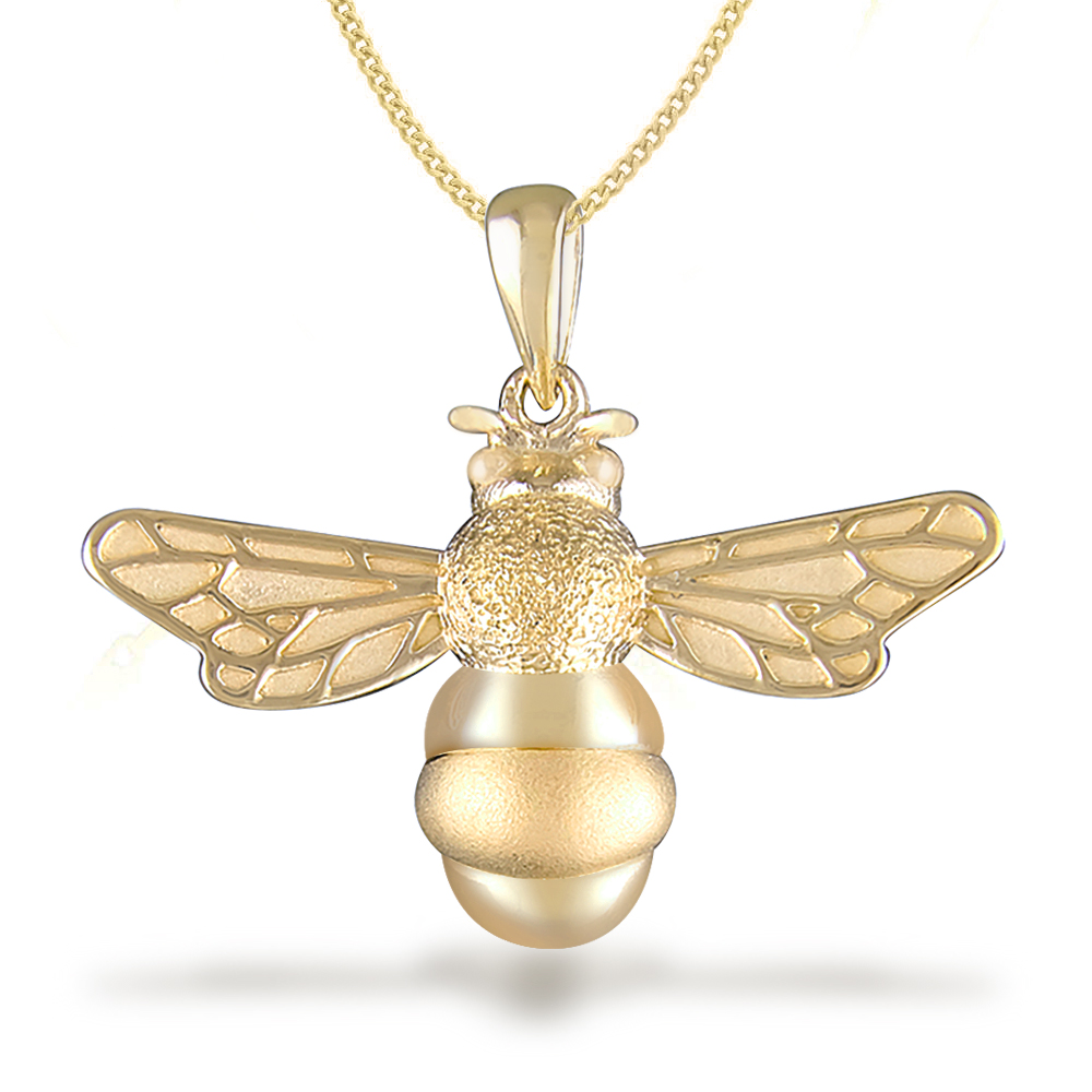 dipped jewellery bee delicate bumble brushed necklace egret pendant products gold chain uk small