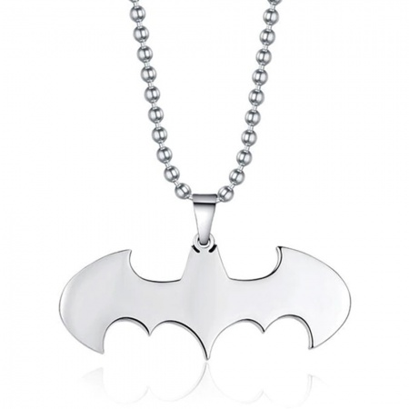 Men's Bat Necklace, Personalised
