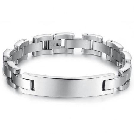 Mens ID Bracelet, Stainless Steel (can be personalised)