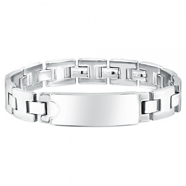 Mens ID Bracelet, Stainless Steel, with Personalised Engraving