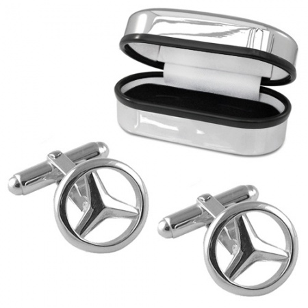 Mercedes Benz Cufflinks, Personalised, Sterling Silver