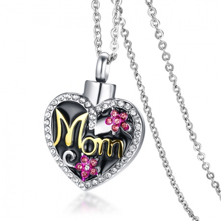 Mom Cremation Ashes Necklace, Personalised