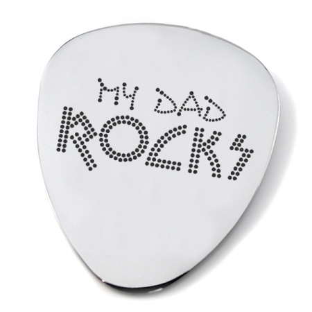 My Dad Rocks Plectrum/Pick, Personalised / Engraved
