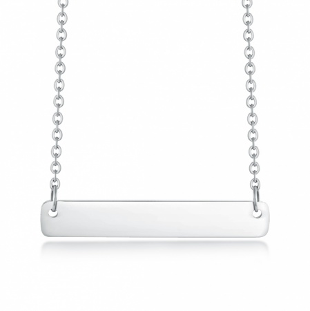 Name Bar Necklace, Personalised, Stainless Steel