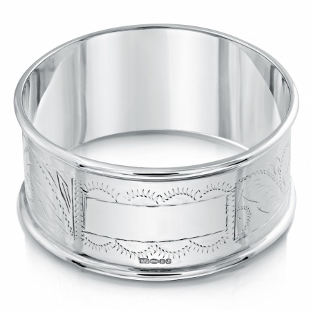 Engraved Napkin Ring Sterling Silver (can be personalised)