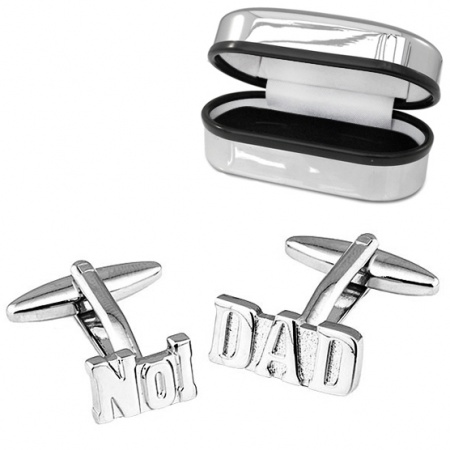 No1 Dad Cufflinks with Chrome Box (can be personalised)