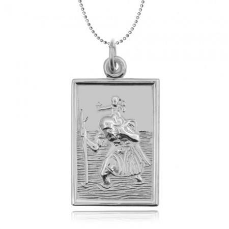 St Christopher Sterling Silver Dog Tag (can be personalised)