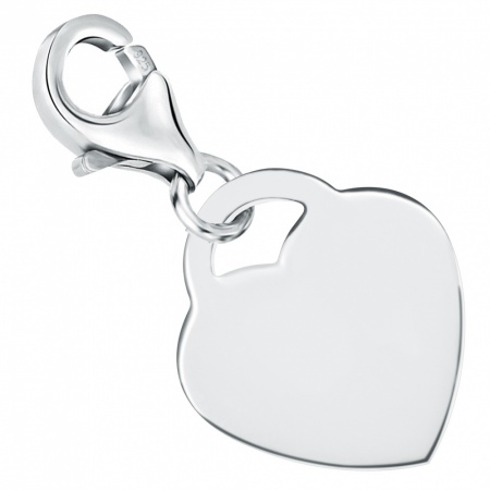 Heart Shaped Sterling Silver Charm (can be personalised)