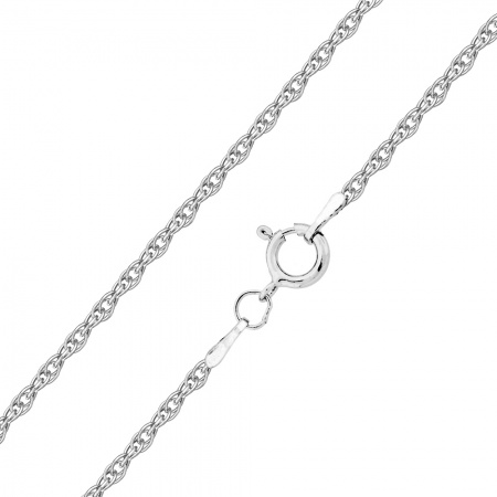 20 Inch Prince of Wales 1mm Rope Chain - 925 Sterling Silver