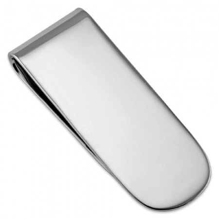 Round End Money Clip, 925 Sterling Silver (Can be personalised)