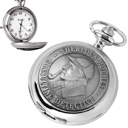 Sherlock Holmes Pocket Watch, Quartz (can be personalised)