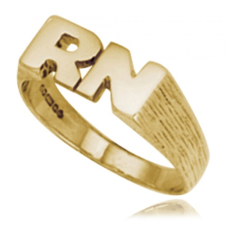 Ladies Initials Ring, 9ct Yellow Gold, Hallmarked, Personalised