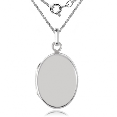 Small Oval Locket, Sterling Silver (can be personalised)