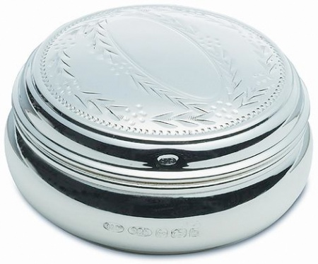 Engraved Pill Box Hallmarked Sterling Silver (can be personalised)