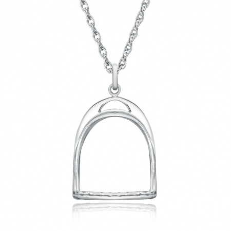 Stirrup Necklace, 925 Sterling Silver