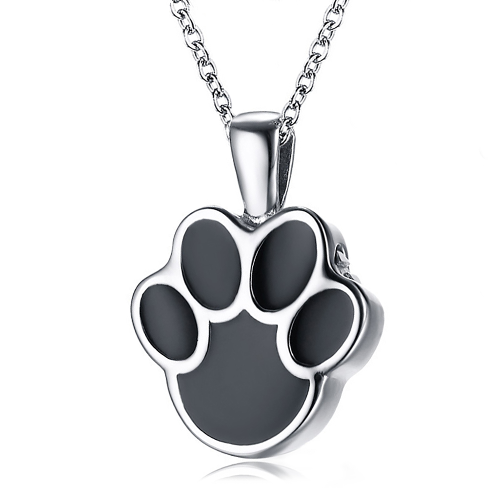 Paw Print Ashes Locket Necklace, Personalised, Cat or Dog