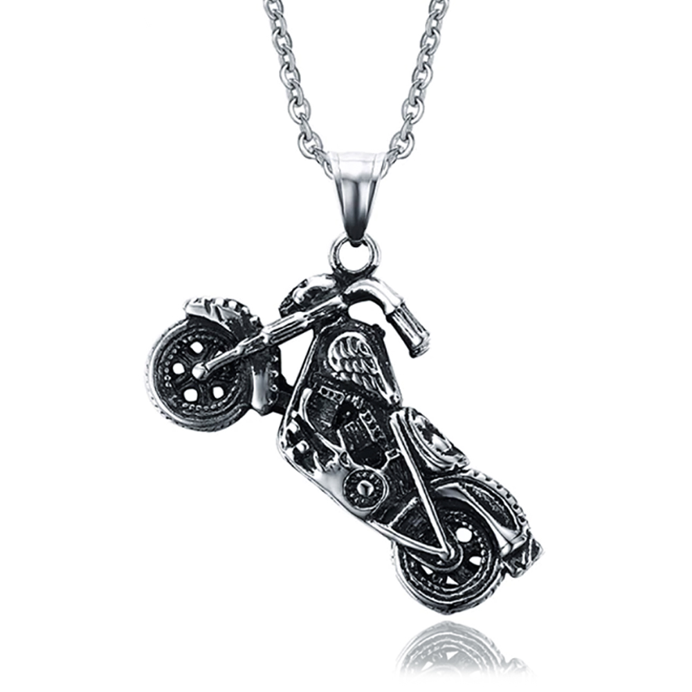Chopper Motorbike Necklace, Men's Stainless Steel