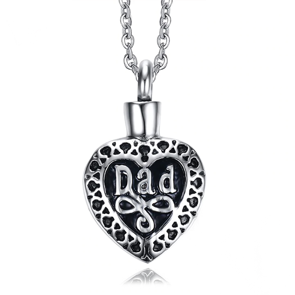 Dad Cremation Ashes Locket Necklace, Personalised