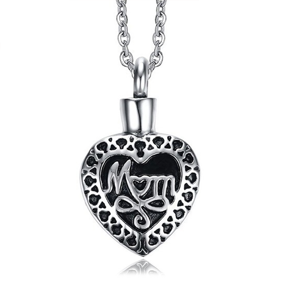 Mum Cremation Ashes Locket Necklace, Personalised