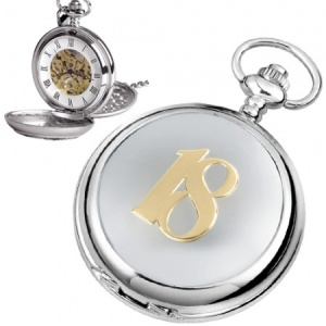 18th Birthday Mechanical Skeleton Pocket Watch (can be personalised)
