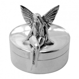 Tooth Fairy Sterling Silver Pill Box (can be personalised)