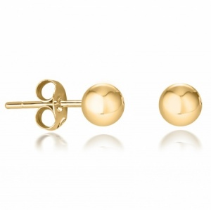 3mm Stud Earrings, 9ct Yellow Gold