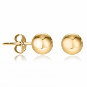 4mm Stud Earrings, 9ct Yellow Gold