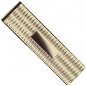 9ct Gold Engine Turned Money Clip (can be personalised)