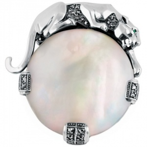 Panther Brooch, Sterling Silver & Mother of Pearl, Windsor Collection