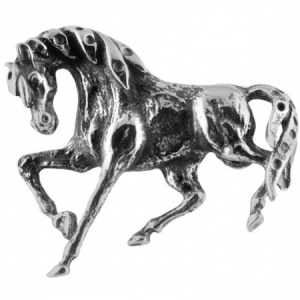 Horse Brooch, Sterling Silver