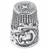 Victorian Style Swirl Thimble, Sterling Silver XOP