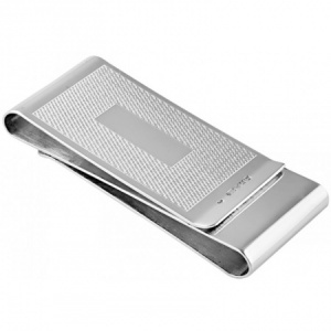 Engine Turned Double Sided Money Clip, 925 Sterling Silver (can be personalised)