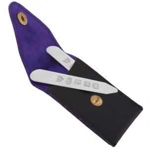 Collar Stiffeners with Case, Sterling Silver (Engraving Available)