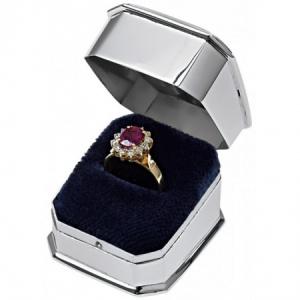 Ring Box, Hallmarked Sterling Silver (Engraved/Personalised)