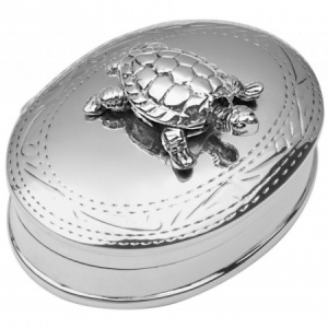 Moving Turtle Pill Box, Hallmarked Sterling Silver, Personalised