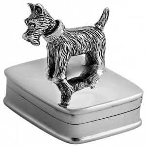 Movable Scottie Dog Pill Box, Hallmarked Sterling Silver, Personalised