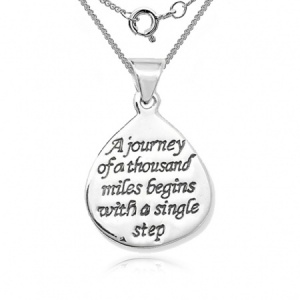 A Journey of a Thousand Miles Necklace, Sterling Silver