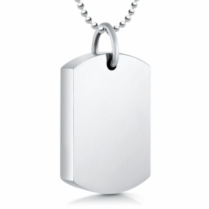 Ashes Memorial Mens Dog Tag Necklace, Personalised