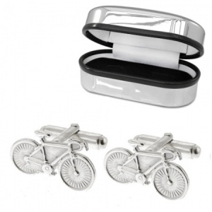 Bicycle Cufflinks, Cycling, Bike, 925 Sterling Silver (can be personalised)