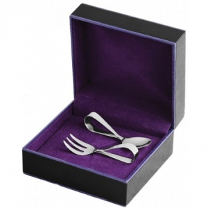 Babies First Fork & Spoon Set, Sterling Silver (Engraving Available)