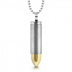 Bullet Ashes Necklace, Personalised, Cremation, Memorial