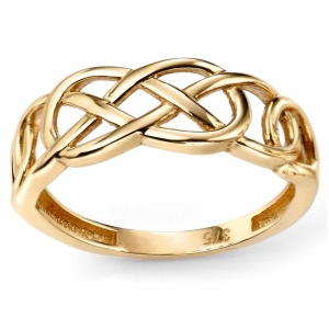 Ladies Celtic Knot Ring, 9ct Yellow Gold