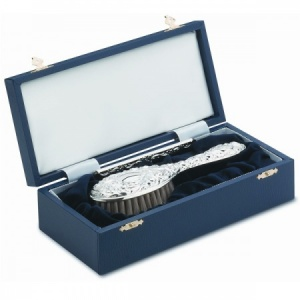 2 Piece Hallmarked Sterling Silver Girls Brush & Comb Set (can be personalised)