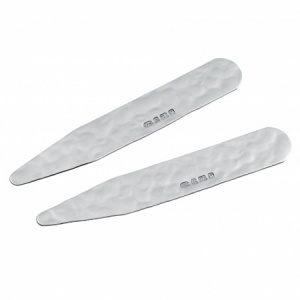 Hammered Collar Stiffeners/Stays, 925 Sterling Silver (can be personalised)