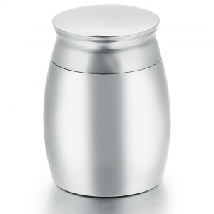 Cremation Urn for Ashes, Personalised, Stainless Steel 40mm high