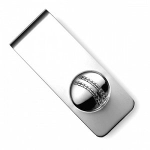 Cricket Ball Sterling Silver Hallmarked Money Clip (can be personalised)